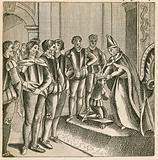Coronation of King Henry VI of England in Paris, receiving homage as King of France, 1422