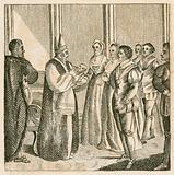 Christening of Princess Elizabeth, daughter of King Henry VIII, 1533