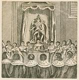 King Charles I on his throne in the House of Lords, Westminster, 17th Century