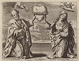 St Peter and Mary Magdalene mourning the death of Jesus Christ