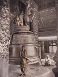 Great bell of the Shwedagon Pagoda, Rangoon, Burma