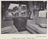 First-class coupe compartment on the London, Midland and Scottish Railway's Royal Scot train
