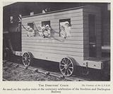 Directors' coach on the replica train used at the centenary celebration of the Stockton and Darlington Railway, 1925