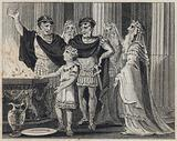 Young Hannibal swearing enmity to the Romans
