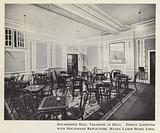 Holderness Hall tea-room at Hull, direct lighting with Holophane reflectors, Mazda lamps being used