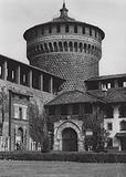 Milano, Castello, Cortile; Milan, Castello, Court