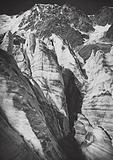 Il Monte Rosa, sul ghiacciaio di Macugnaga; Monte Rosa, on the Macugnaga-Glacier