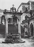 Monte Cassino, Il Cortile del Convento; Monte Cassino, Monastery Court
