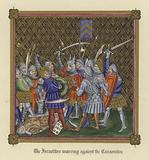 The Israelites warring against the Canaanites