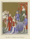 The Queen of Sheba's visit to Solomon