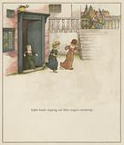 Kate Greenaway illustration for The Pied Piper of Hamelin by Robert Browning