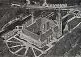 Le Palais de la Paix / The Peace Palace, The Hague: Bird's eye view of Peace Palace