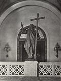 Le Palais de la Paix / The Peace Palace, The Hague: At the head of the grand staircase, Figure of Christ from the Andes