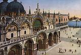 Venezia / Venice: Facciata della Basilica vista dalla Torre dell'Orologio