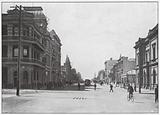 West Australia: St George's Terrace, Perth, Palace Hotel and WA Bank on the Corners
