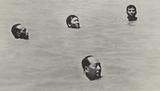 Mao Zedong swimming in the Yangtse River, China, 1966