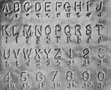 The Braille alphabet