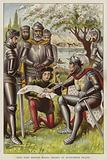 King John signing the Magna Carta, 1215