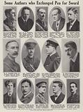 British authors who served in the armed forces in the First World War, 1914–1918
