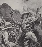 Lieutenant William Forshaw winning the Victoria Cross at Gallipoli, World War I, 1915