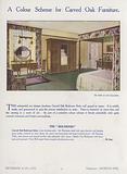 Carved oak bedroom suite