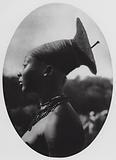 Mangbetu woman of Uele, Belgian Congo