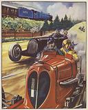 Motor racing scene