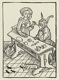Illustration for Sebastan Brant's satire The Ship of Fools, 1497