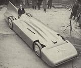 Sir Malcolm Campbell with his redesigned Blue Bird, the car in which he broke the Land Speed Record in 1935