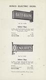 Page from Sun Electrical catalogue of electrical goods, 1926