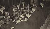 Eton College: Sixth Form Table at dinner in College Hall