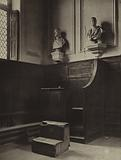 Eton College: A corner of Upper School, showing the flogging block in front of the master's desk