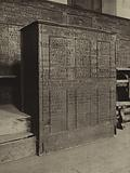 Eton College: A master's desk in Upper School with names of the Balfour family carved on it