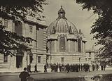 Eton College: Outside Chambers, showing the dome of School Library and (to the left) School Hall