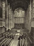 Eton College: View of College Chapel from the organ loft