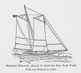 Schooner Gimcrack, aboard of which the New York Yacht Club was formed in 1844