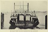 Ipswich: The train ferry leaving Harwich for the continent