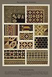 Das griechische Ornament, Marmormosaikboden