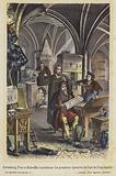Gutenberg, Fust et Schoeffer considerant les premieres epreuves de l'art de l'imprimerie