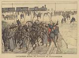 Russian cavalry on their way to Manchuria