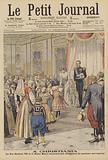 King Haakon VII and Queen Maud of Norway receiving a delegation of Norwegian peasants
