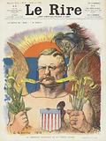 President Roosevelt and Old Europe. Illustration for Le Rire.