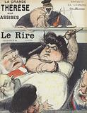 The trial of the notorious fraudster Therese Humbert. Illustration for Le Rire
