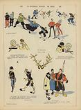 Satire on the Russo-Japanese War. Illustration for Le Rire