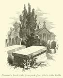 Flaxman's Tomb in the Graveyard of St Giles's in the Fields