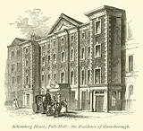 Schomberg House, Pall-Mall, the Residence of Gainsborough