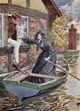 Maggie Tulliver rescues Tom at the Mill