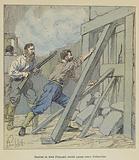 Combat de trois Francais contre quinze cents Fahavolos