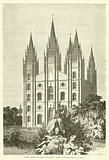Facade projetee du temple des Mormons
