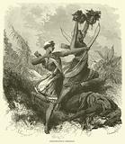 Amazones-archers combattant